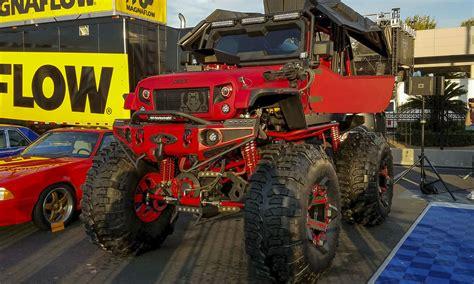 monster jeep sema 2016 jeep roots run deep at vegas show 187 autonxt