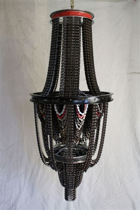 Bike Chain Chandelier Cool Upcycling Design Recycled Bicycle Chain Chandeliers