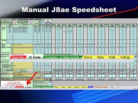 Acca Manual J Spreadsheet by Manual J Worksheet Photos Getadating