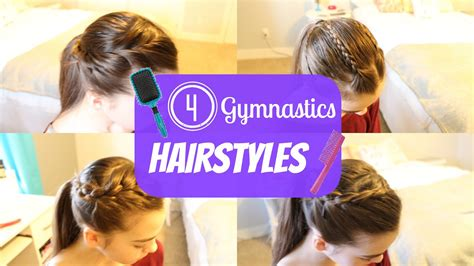 easy hairstyles gym gymnastics hairstyles youtube
