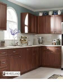 reddish brown kitchen cabinets