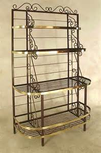 Baker Racks Gourmet Bakers Rack With Wine Rack