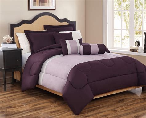 6 piece king tranquil plum and lavender comforter set ebay