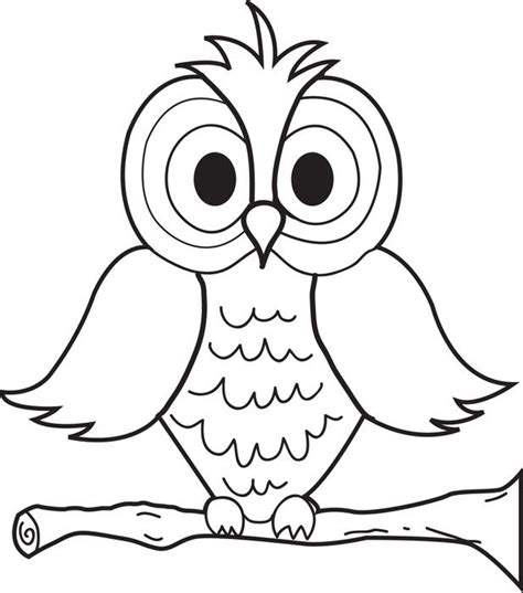 free printable cartoon owl coloring page for kids