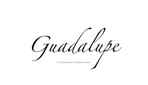Tattoo Name Guadalupe | guadalupe name tattoo designs