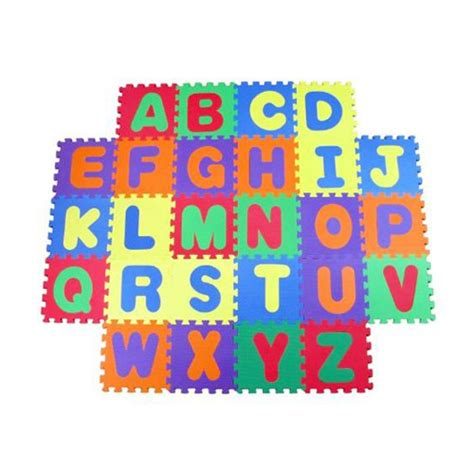 buy abc learning foam mat puzzle lock block alphabets