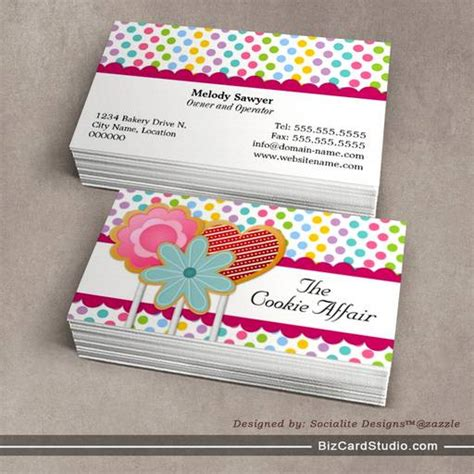 cookie business card template business card templates studio whimsical cookie pops