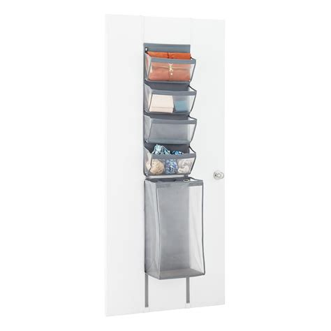 over the door organizer umbra enfold over the door organizer the container store