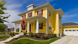 yellow color home design modern yellow foursquare house beautiful modern foursquare flickr