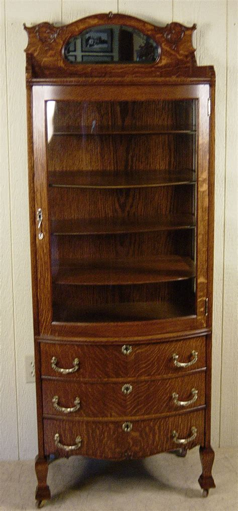 curio with drawers very rare small oak curio with 3 drawers