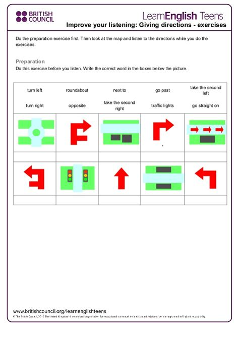 giving directions printable exercises giving directions exercises 2