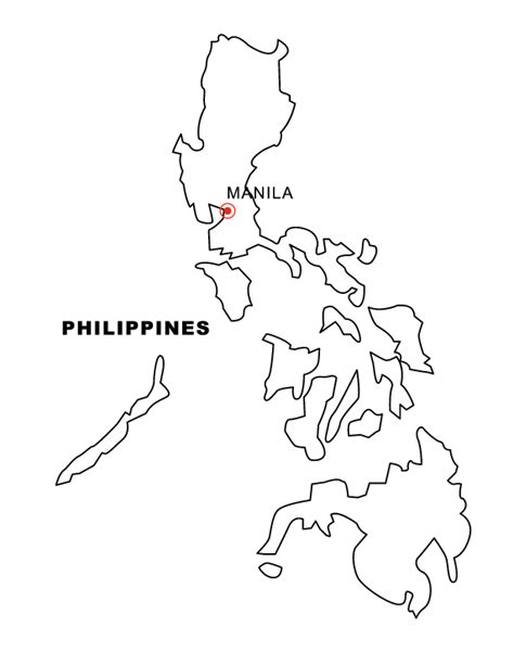printable map philippines philippines map drawing