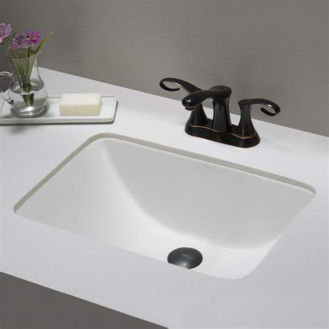 Rectangular Undermount Vanity Sink by Ceramic Sink Kraususa