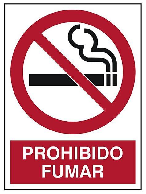 prohibido fumar quot prohibido fumar quot sign s 21167 uline
