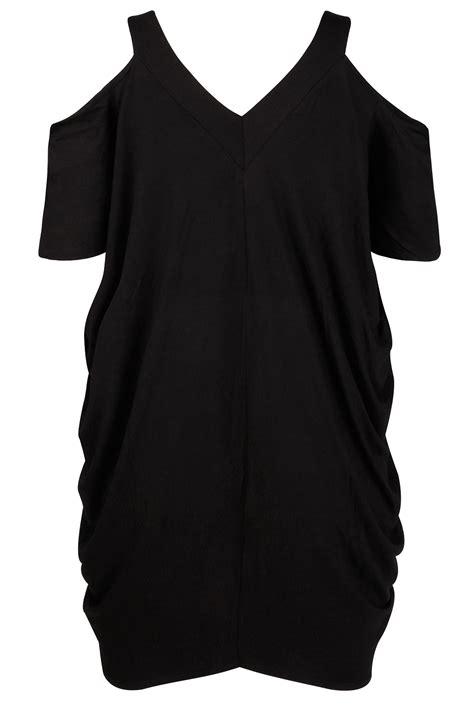 black drape black drape side cold shoulder dress plus size 16 to 32