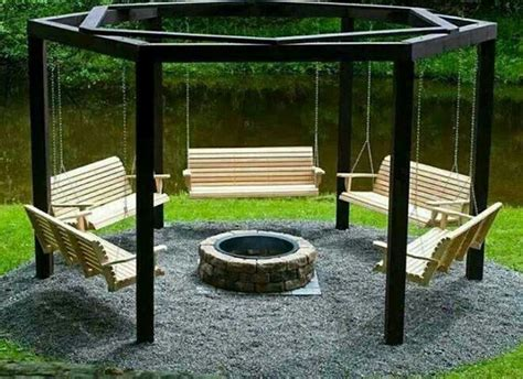 swing for backyard diy backyard swings and firepit love it diy pinterest
