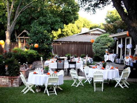 backyard decorations simple elegant backyard wedding ideas on a budget c