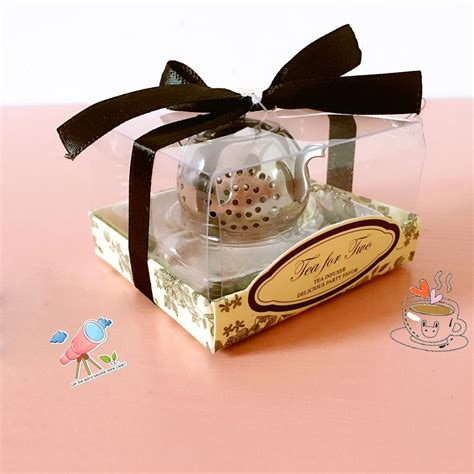 50pcs new wedding favor small stainless steel teapot tea strainer spoon wedding gift ideas tea