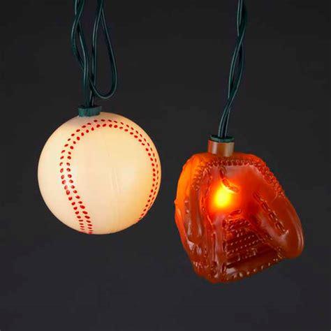Baseball String - baseballs and gloves string lights