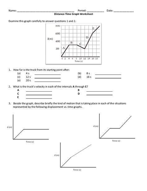 Graphing Speed Worksheet Answers by 8 Best Images Of Speed Distance Time Worksheet Time And