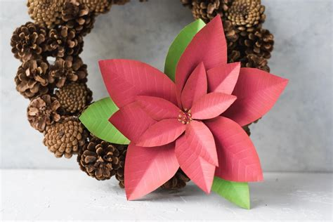 How To Make Paper Poinsettia - how to make a paper poinsettia favecrafts