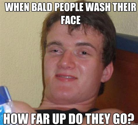 Shaved Head Meme - funny man with face on back of head memeaddicts