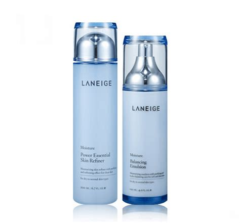 Laneige Moisturizer laneige set power essential skin refiner 200ml balancing emulsion 120ml 3 type seoul