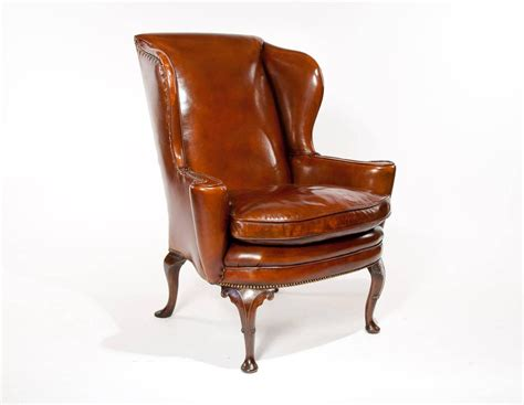antique wingback chairs superb quality 19th century antique leather wing chair at