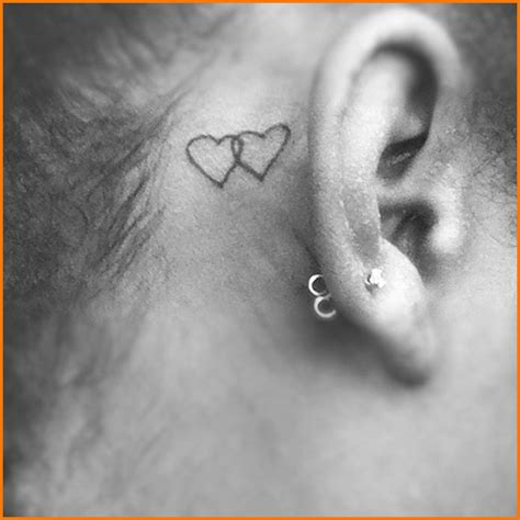 heart tattoo behind ear ear images designs