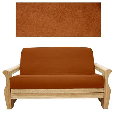 futon rost suede rust futon cover