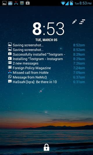 android lock screen notifications get real time notifications on android lock screen with this widget