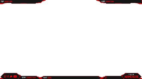 red twitch stream overlay template pictures to pin on