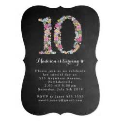 10th birthday cards invitations zazzle