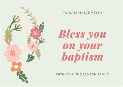 Customize 81  Baptism Card templates online   Canva