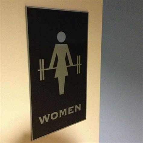 female bathroom best women s bathroom sign ever gym motivation pinterest