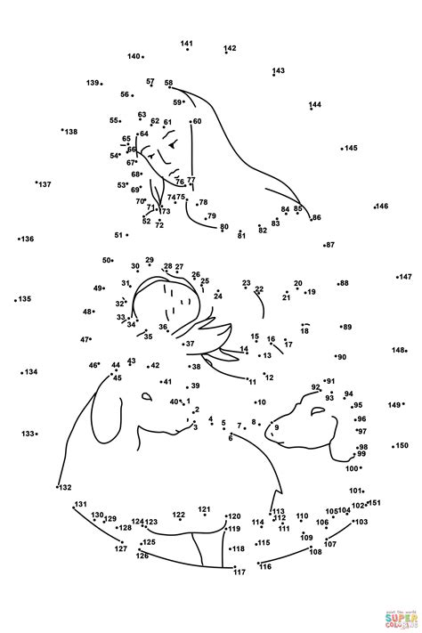dot to dot jesus printables mother mary with baby jesus and two sheep dot to dot