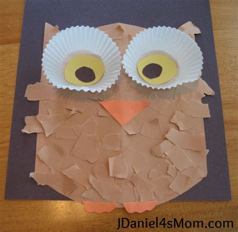 owl craft for owl activities on