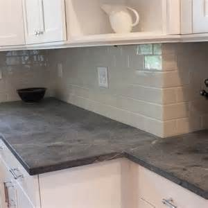 grey soapstone countertops soapstone counter with subway tiles inspiration kitchens