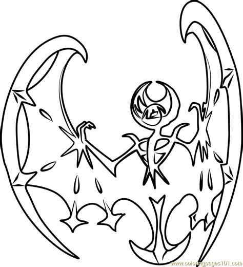coloring pages pokemon sun and moon lunala pokemon sun and moon coloring page free pok 233 mon
