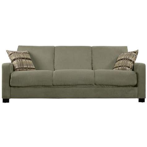 sage microfiber sofa portfolio trace sage microfiber futon sofa sleeper this