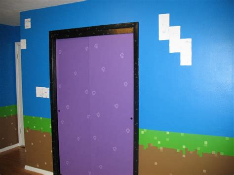 Real Minecraft Bedroom by S Minecraft Inspired Bedroom Portal Walls