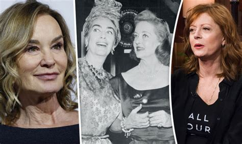 jessica lange and susan sarandon as joan crawford and jessica lange and susan sarandon to play joan crawford and