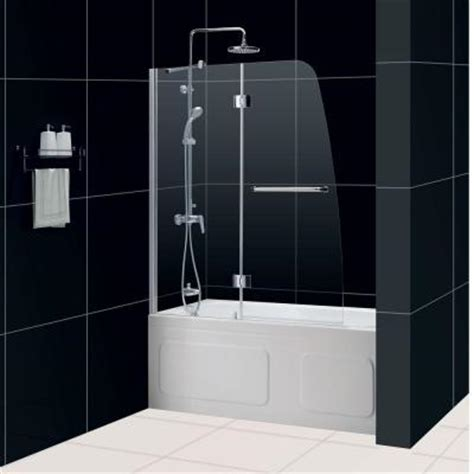 home depot bathtub shower doors bathtub shower doors home depot schon 40 in x 55 in semi framed hinge tub and shower