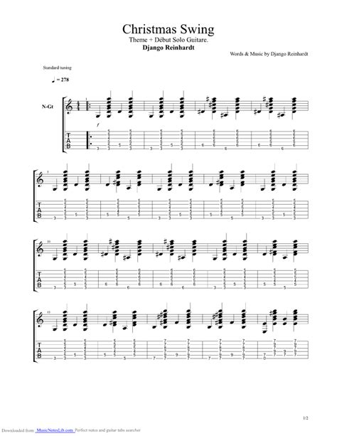 swing gitan tab christmas swing 27 12 1937 guitar pro tab by django