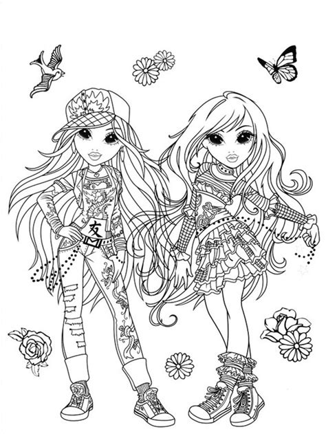 moxie girlz coloring pages 9 coloring kids