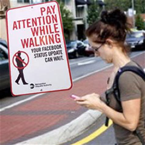 The Dangers Of Distracted Walking by New Study Points To Dangers Of Distracted Walking