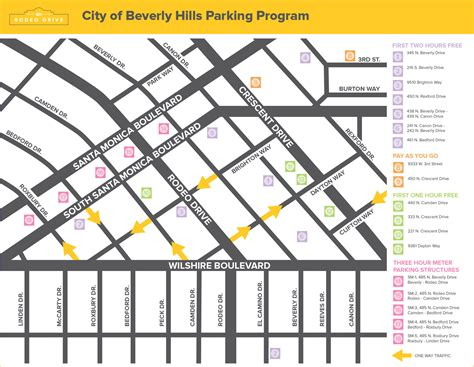 beverly hills parking map rodeo drive map my blog