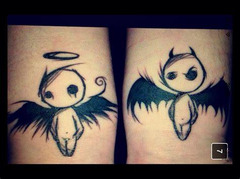 tattoo angel and devil designs angel devil tattoo angelanddevil want pinterest