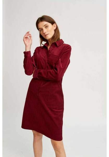 Corduroy Shirt Dress tree jaden corduroy shirt dress burgundy