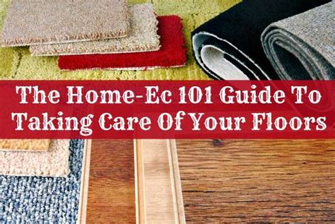the home ec 101 guide to taking care of your floors